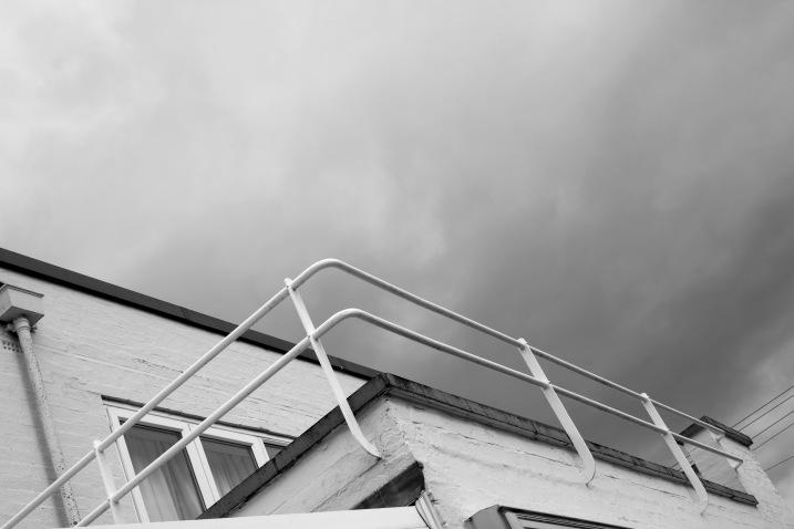 Original railings still exist on North balcony