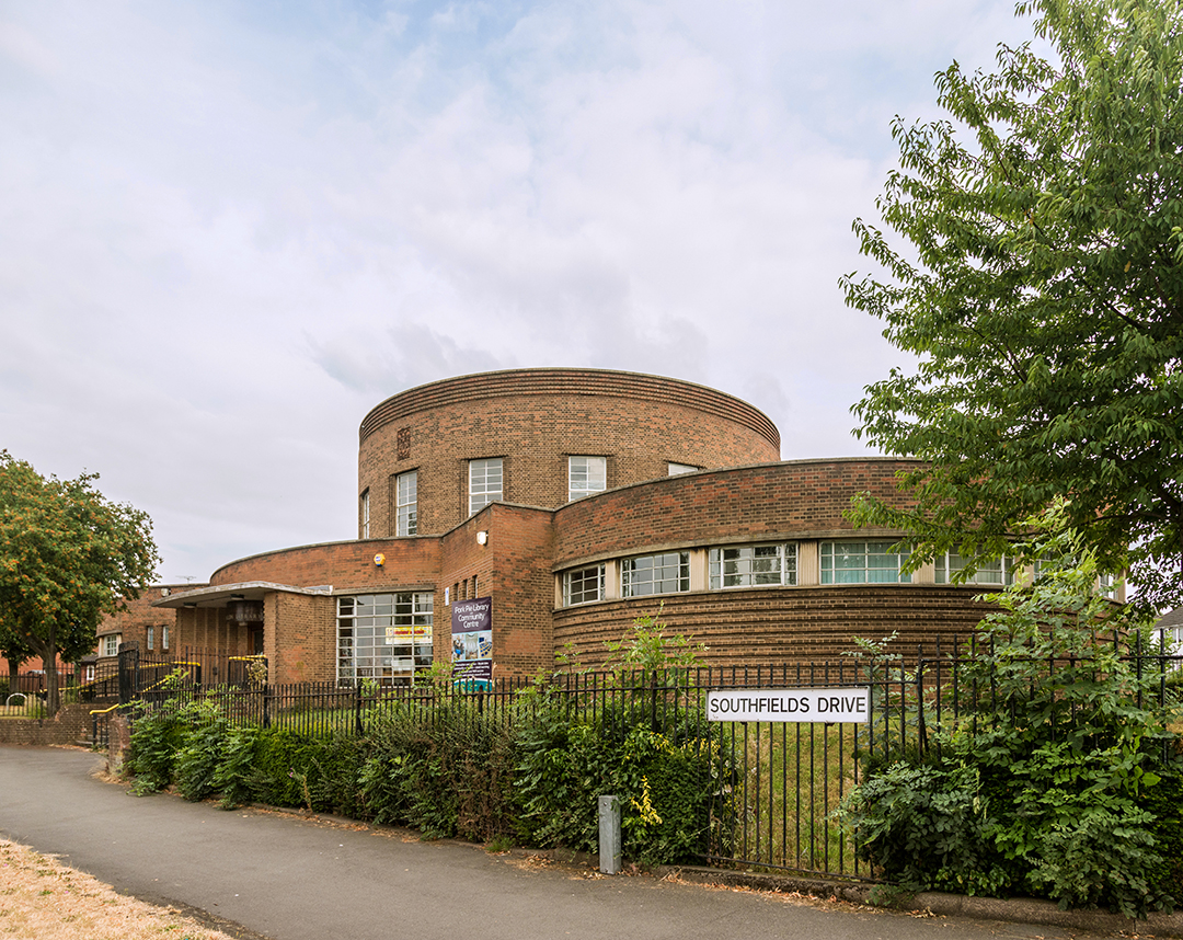 Southfields (aka Pork Pie) Library, Leicester (1939) by Symington, Prince & Pike