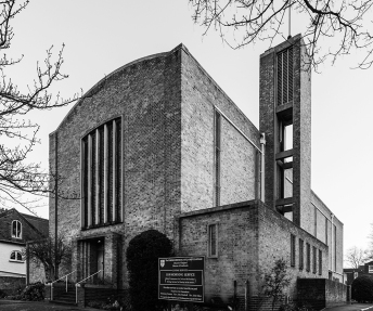 St James, Clapham Common (1957-8) by N. F. Cachemallie-Day