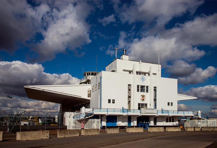 Elmdon Building, Birmingham Airport (1938-9) by Nigel Norman & Sir Graham Dawbarn